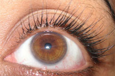 Eyelash extensions are individual false eyelashes that are applied to the natural eyelashes.